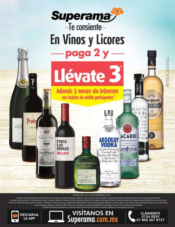 Ofertas de Superama, Superama te consiente en vinos y licores