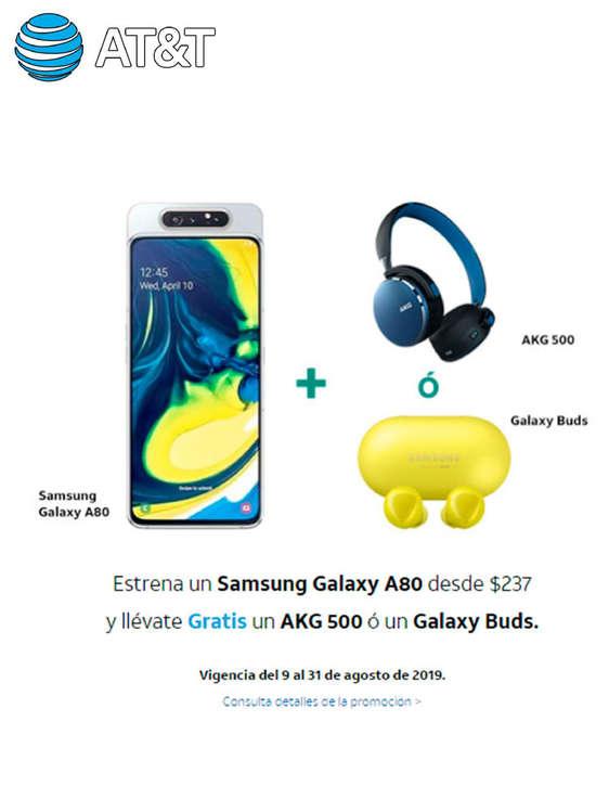Ofertas de AT&T, Estrena un Samsung Galaxy A80 des $237.00