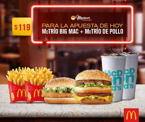 Ofertas de McDonald's, Martes