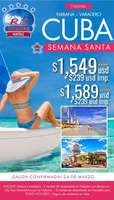 Ofertas de RS Viajes, Cuba Semana Santa