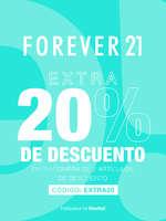 Ofertas de Forever 21, Extra 20% de descuento