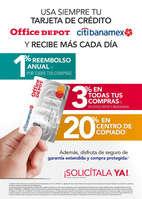 Ofertas de Office Depot, Tarjeta de crédito office depot citibanamex