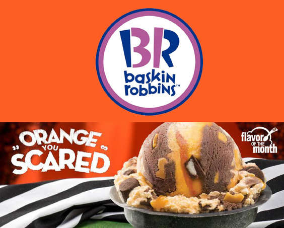 Ofertas de Baskin Robbins, Orange You Scared