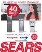 Ofertas de Sears, 40% de descuento directo en despachadores de agua