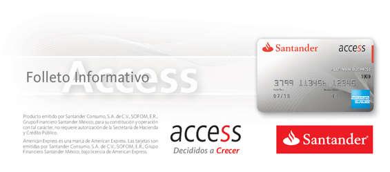 Ofertas de Santander, Folleto Informativo Access American Express