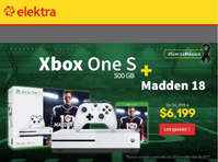Xbox One S + Madden 18