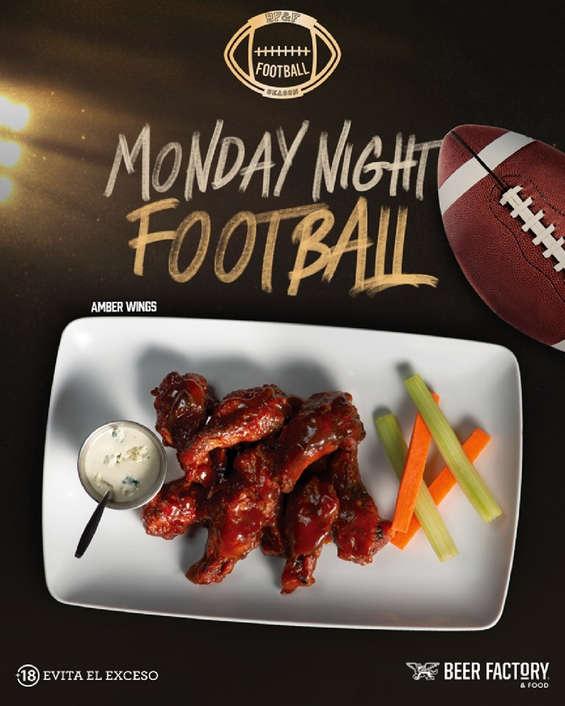 Ofertas de Beer Factory, Monday Night Football