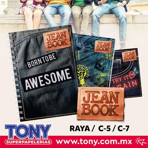 Ofertas de Tony Super Papelerías, Jean book
