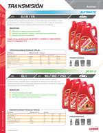 Ofertas de Gonher, Catálogo lubricantes