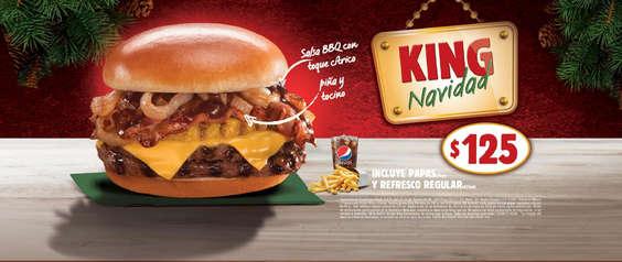 Ofertas de Burger King, King Navidad