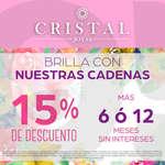 Ofertas de Cristal Joyas, 15% de descuento