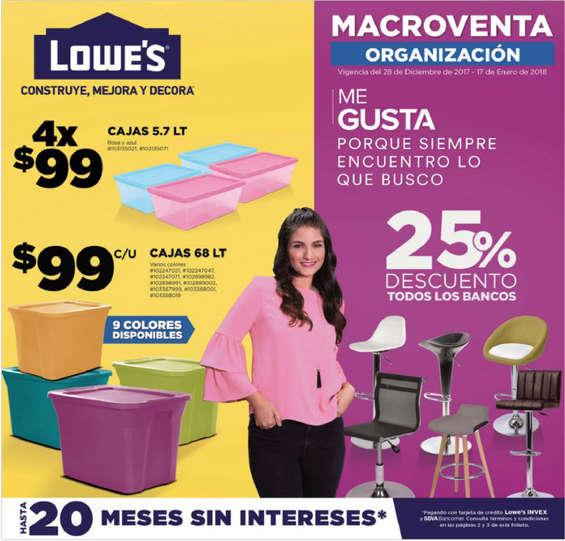 Ofertas de Lowes, Macroventa Organización