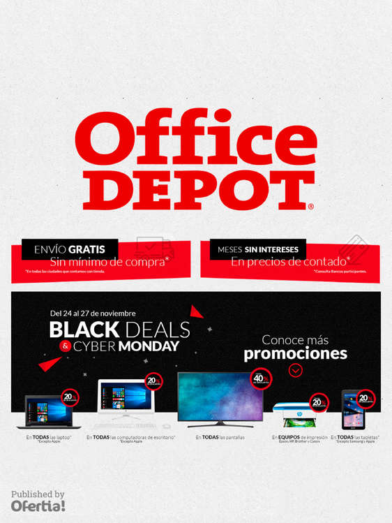 Ofertas de Office Depot, Black Deals