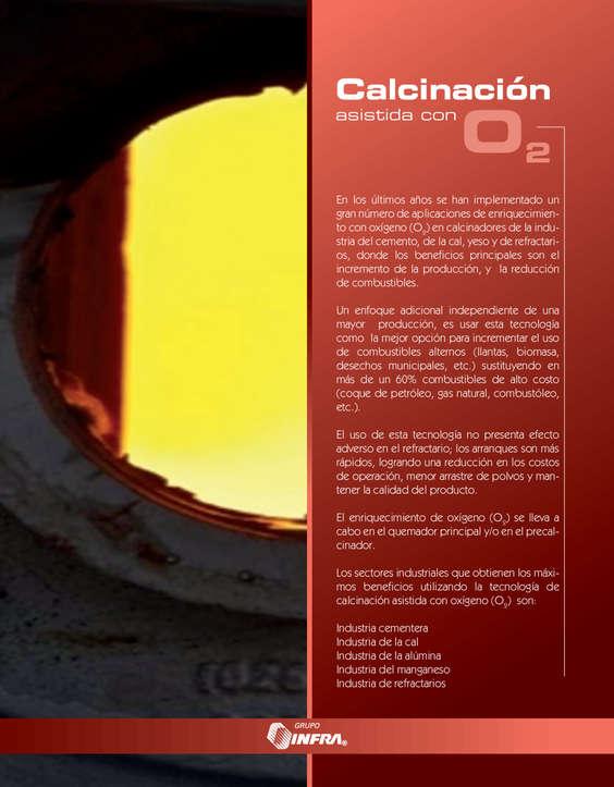 Ofertas de Infra, Calcinación asistida con O2