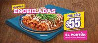 Enchiladas por $55