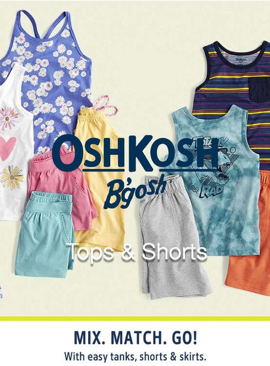 Ofertas de OshKosh, Tops & Shorts
