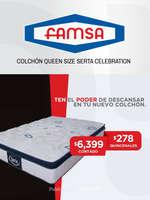 Ofertas de Famsa, Colchón Queen Size Serta Celebration