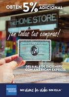 Ofertas de The Home Store, Obtén 5% de descuento adicional