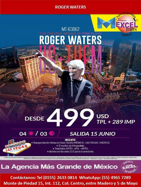 Ofertas de Excel Tours, Roger Waters