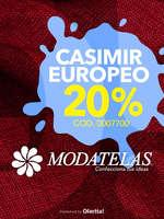 Ofertas de Modatelas, Casimir Europeo 20%