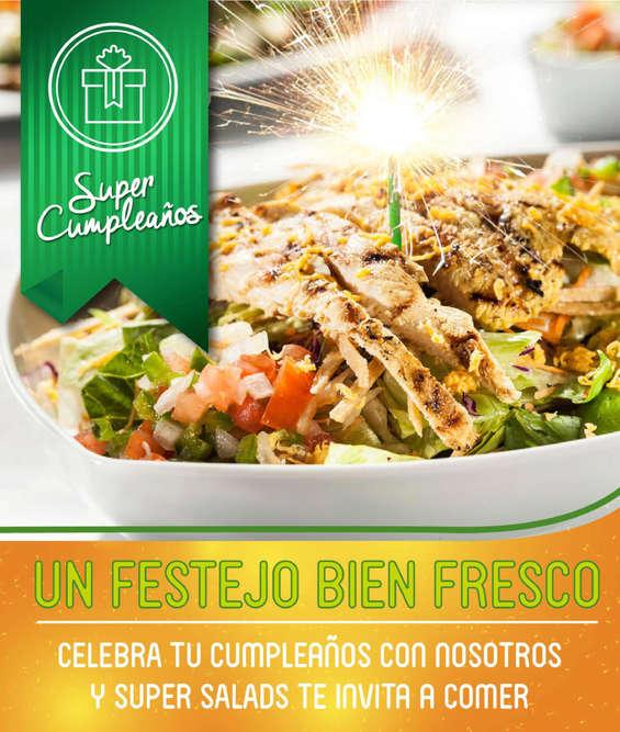 Ofertas de Super Salads, Celebra tu cumpleaños con nosotros