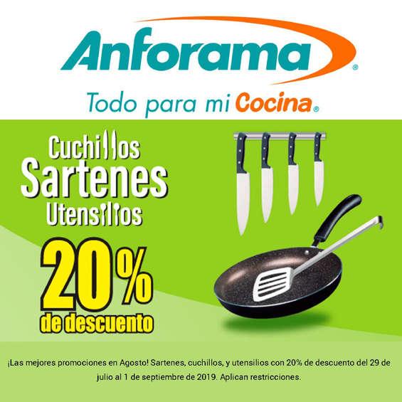 Ofertas de Anforama, Cuchillos sartenes y utensilios