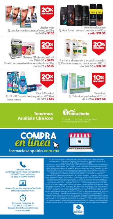 Ofertas de San Pablo Farmacia, Tu salud es importante