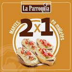 Ofertas de La Parroquia de Veracruz, Martes 2x1 en Molletes