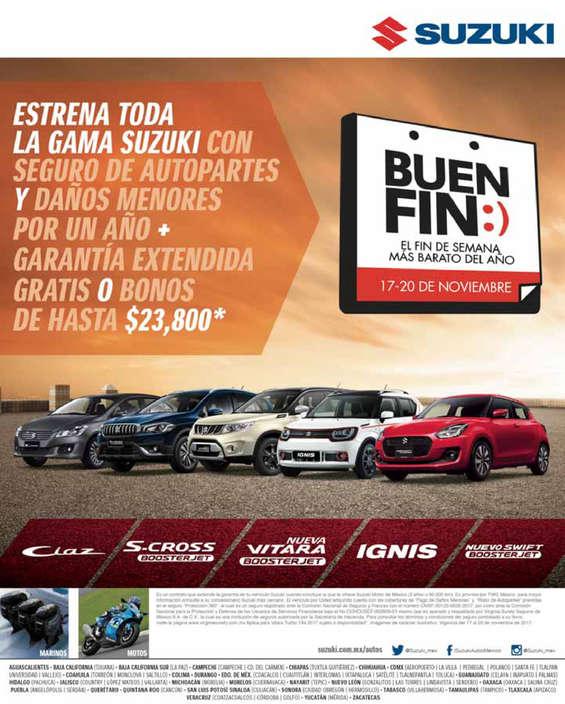 Ofertas de Suzuki Autos, Suzuki Buen Fin