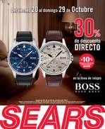 Ofertas de Sears, Descuento en la línea de relojes Hugo Boss