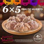 Ofertas de El Globo, 6 x 5 en pan de muerto