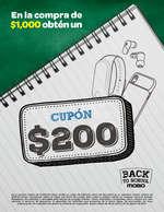 Ofertas de Mobo, Obtén un cupón de $200