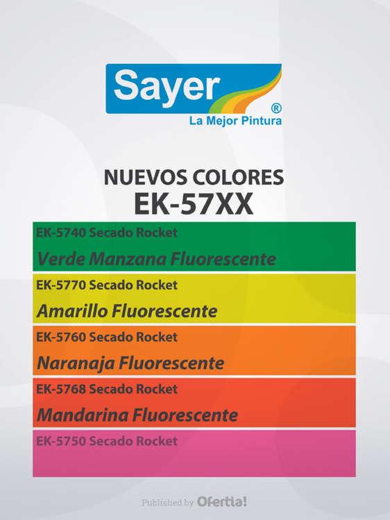 Ofertas de Sayer, ¡Nuevos colores FLOURESCENTES!